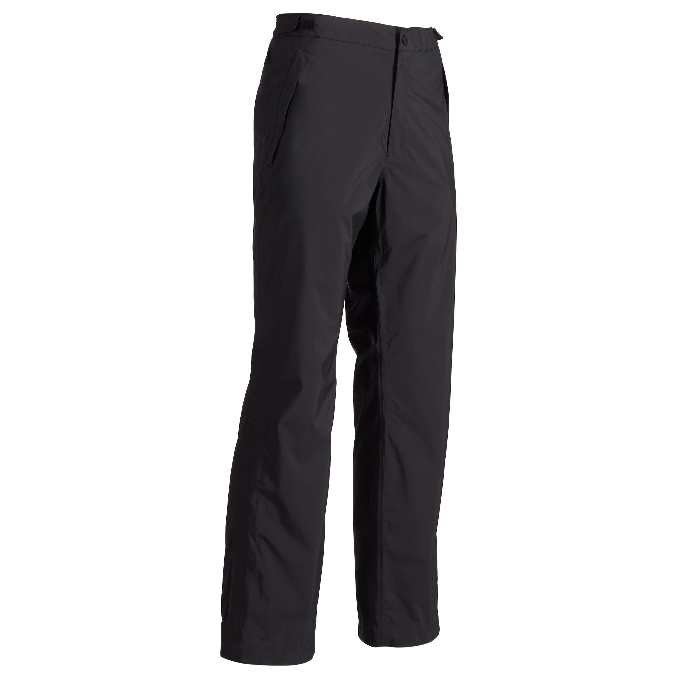 900 Men's Golf Waterproof Rain Top-Layer Pants - Black