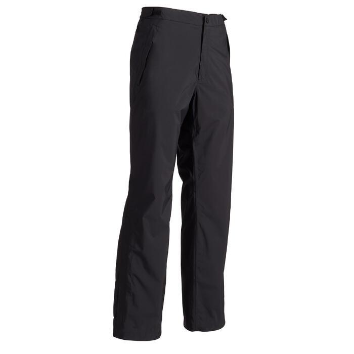 900 Men's Golf Waterproof Overtrousers - Black - 1489168