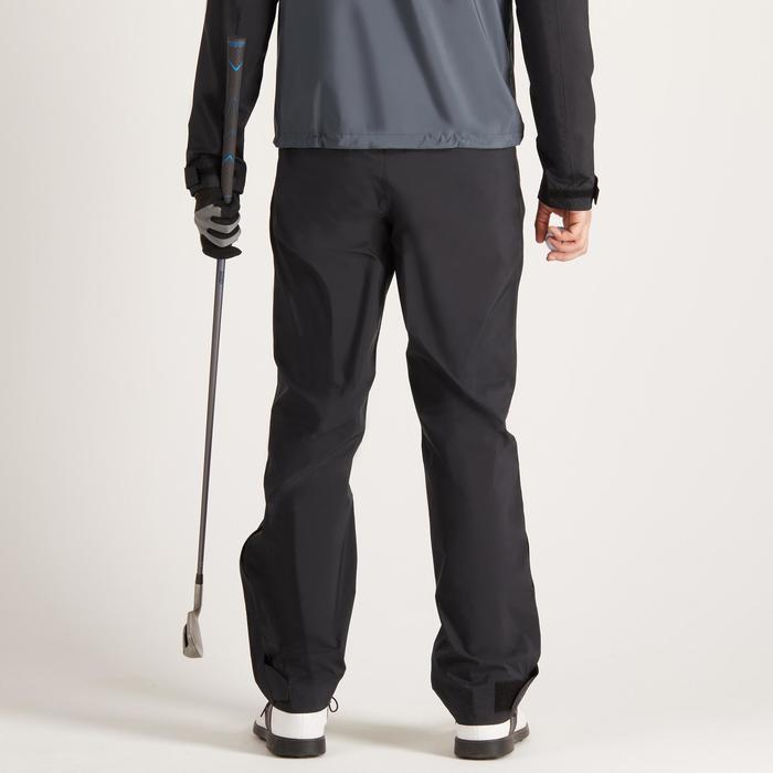 900 Men's Golf Waterproof Overtrousers - Black - 1489169