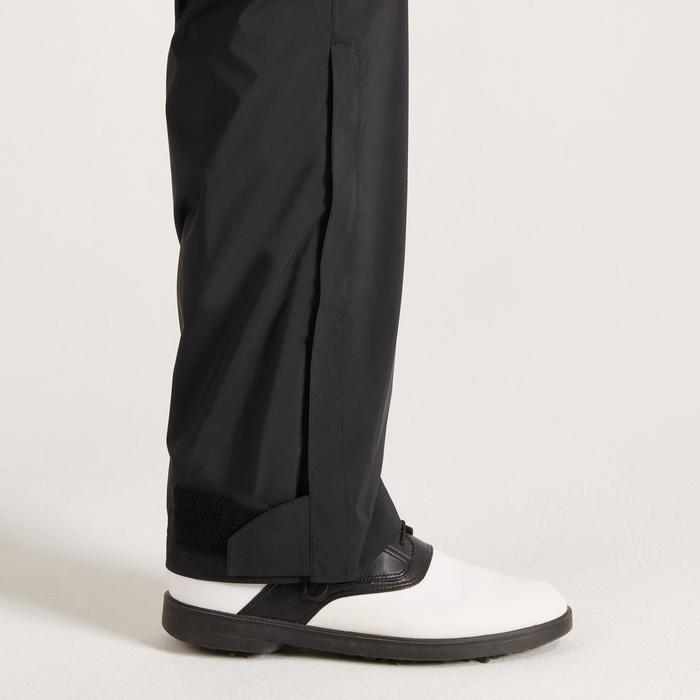 900 Men's Golf Waterproof Overtrousers - Black - 1489183