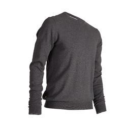 520 Men's Round Neck Sweater - Dark Heather Grey