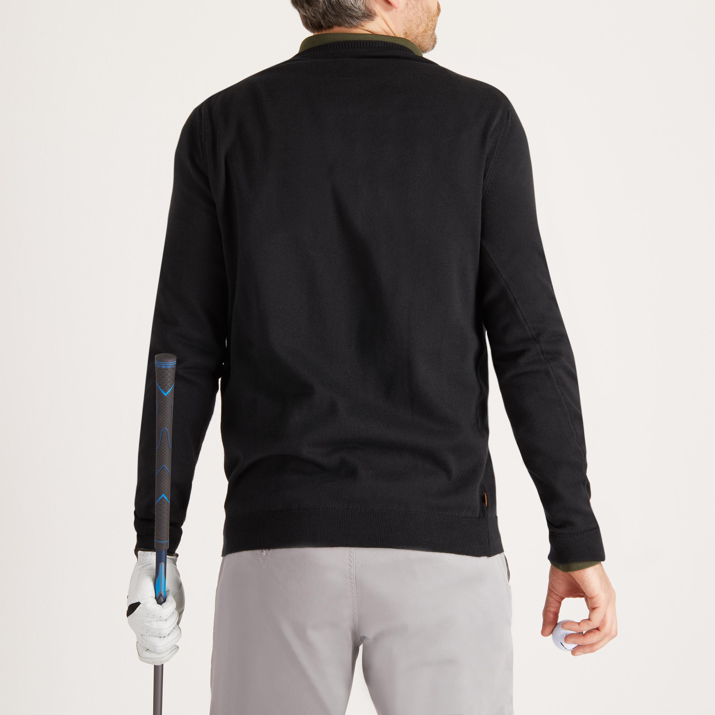 Men's Golf Mild Weather Crew Neck Sweater Black