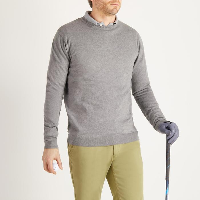 PULL GOLF COL ROND TEMPS TEMPERE GRIS POUR HOMME