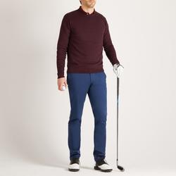Men's Golf Pullover - Burgundy