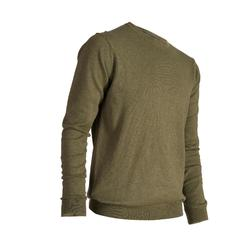 Men's Golf Mild Weather Crew Neck Pullover - Khaki