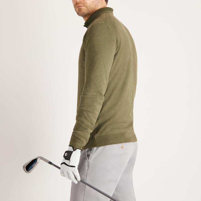 PULL GOLF COL ROND TEMPS TEMPERE KAKI POUR HOMME