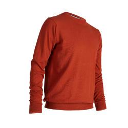 男款高爾夫圓領針織衫-赭色