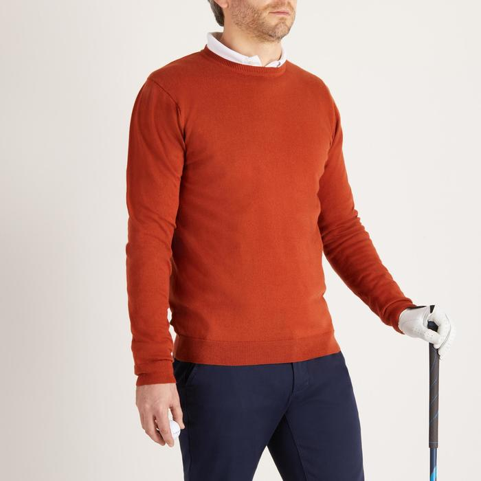 PULL DE GOLF COL ROND HOMME TEMPS TEMPERE ROUILLE