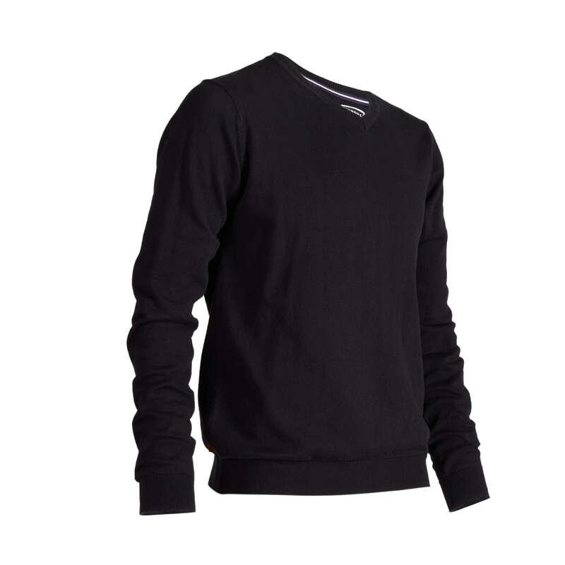 MENS MILD WEATHER GOLF CLOTHING Golf - 500 V NECK GOLF SWEATER - BLACK INESIS - Golf Clothing