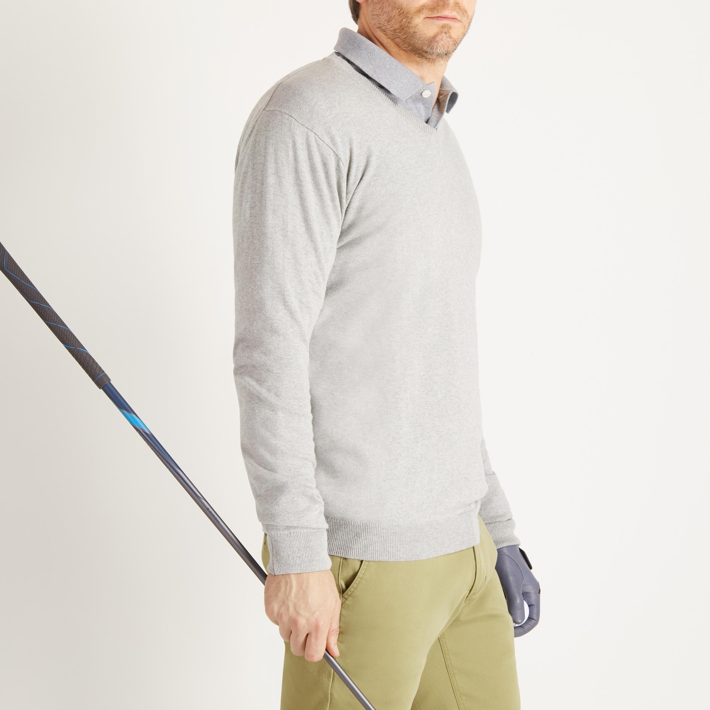 Men's Golf Sweater 500 - Heather Grey