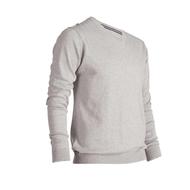 MENS MILD WEATHER GOLF CLOTHING Golf - 500 V NECK GOLF SWEATER - LIGHT GREY INESIS - Golf Clothing
