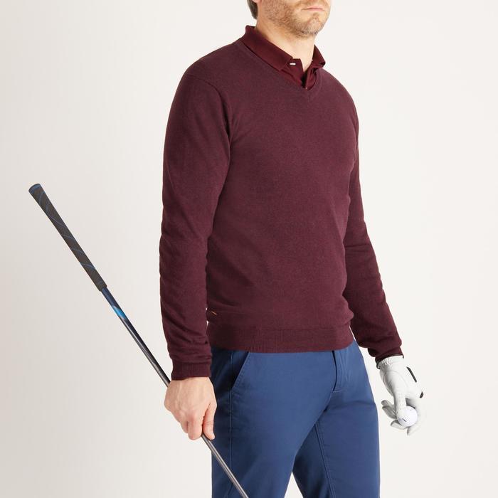 Golf Pullover V-Ausschnitt Herren bordeaux
