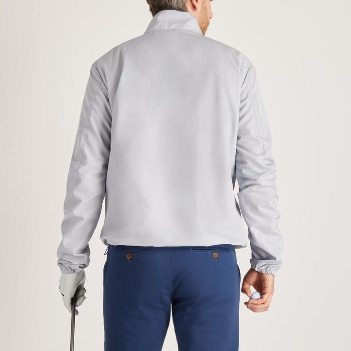 Heren windjack voor golf voor zacht weer lichtgrijs