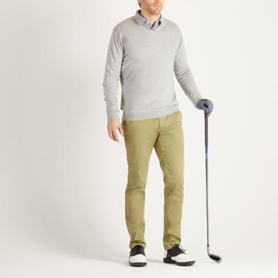 Men's Mild Weather Golf V-Neck Pullover - Heather Grey