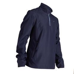 男款防風高爾夫外套–海軍藍
