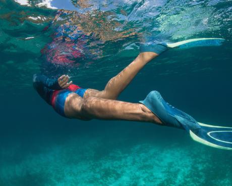 Como escolher o tamanho das barbatanas de mergulho?