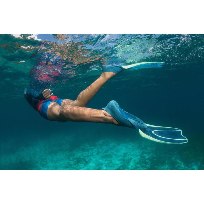Palmes de snorkeling ou de plongée bouteille SNK 540 adulte turquoises rouges - 1489410