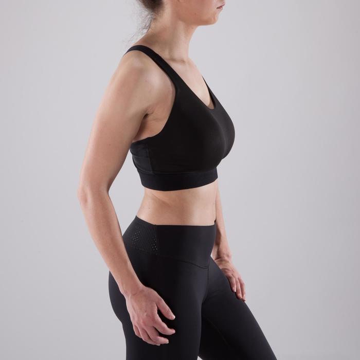 Domyos Brassière bonnets profonds cardio fitness femme noire 500 ... d8bb3318aa0