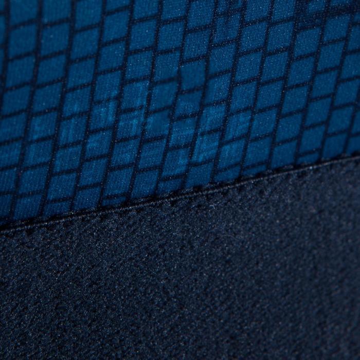 Sportbeha 500 met grote cupmaat voor cardiofitness blauwe print
