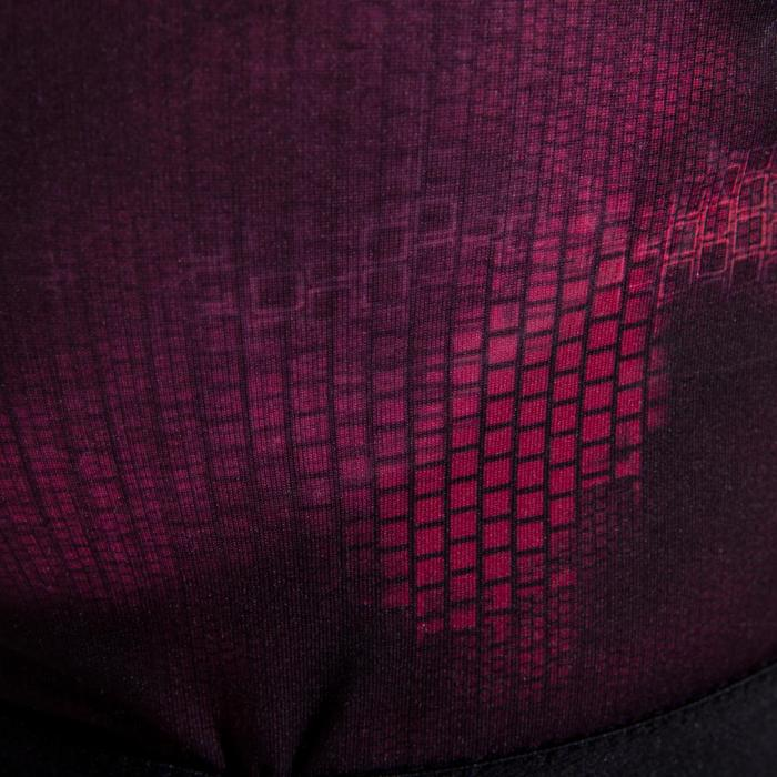 Sportbeha 500 met grote cupmaat voor cardiofitness zwart en roze