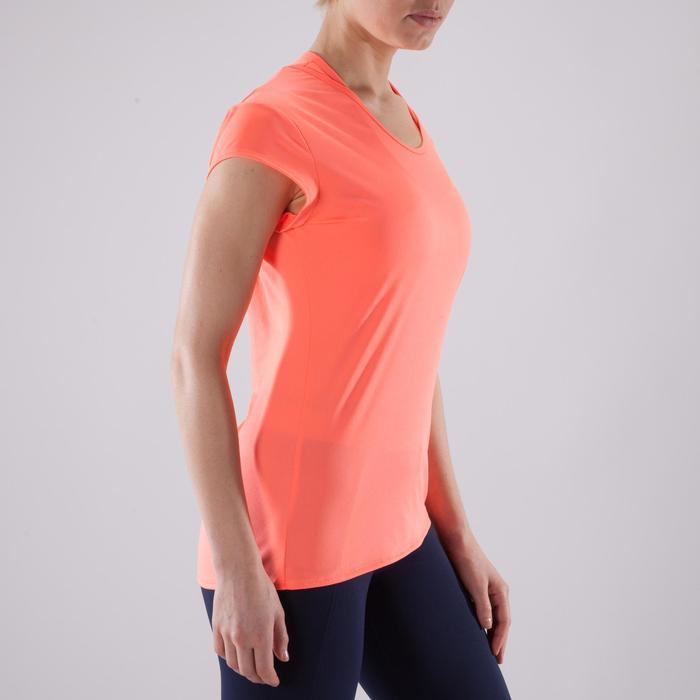 T-Shirt 100 Fitness-/Cardiotraining Damen koralle