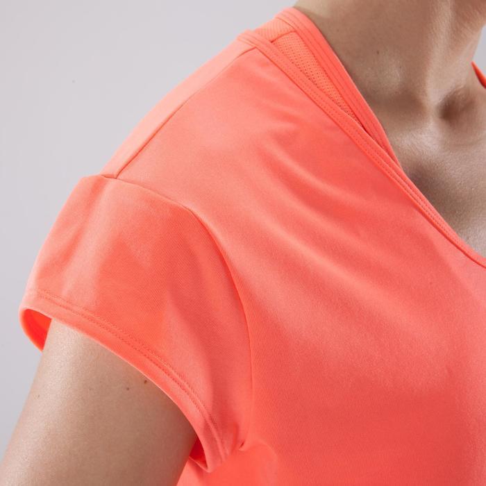 Camiseta cardio fitness mujer coral 100