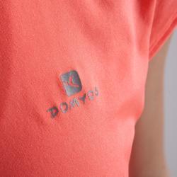 T-Shirt FTS 100 Fitness/Ausdauertraining Damen koralle