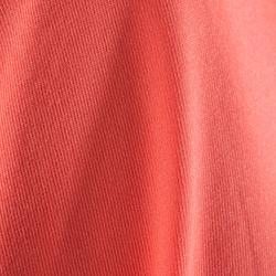 Camiseta Manga Corta Deportiva Fitness Cardio Domyos 100 Mujer Coral Fluor