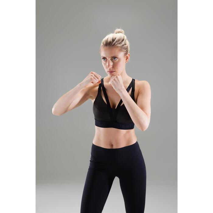 Top Sujetador Deportivo Cardio Fitness Domyos 500 mujer negro