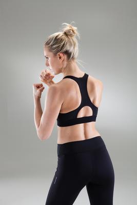Brasier top deportivo cardio fitness mujer 500 negro