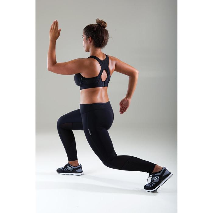 Sport-Bustier 900 große Körbchen Cardio Fitness Damen schwarz