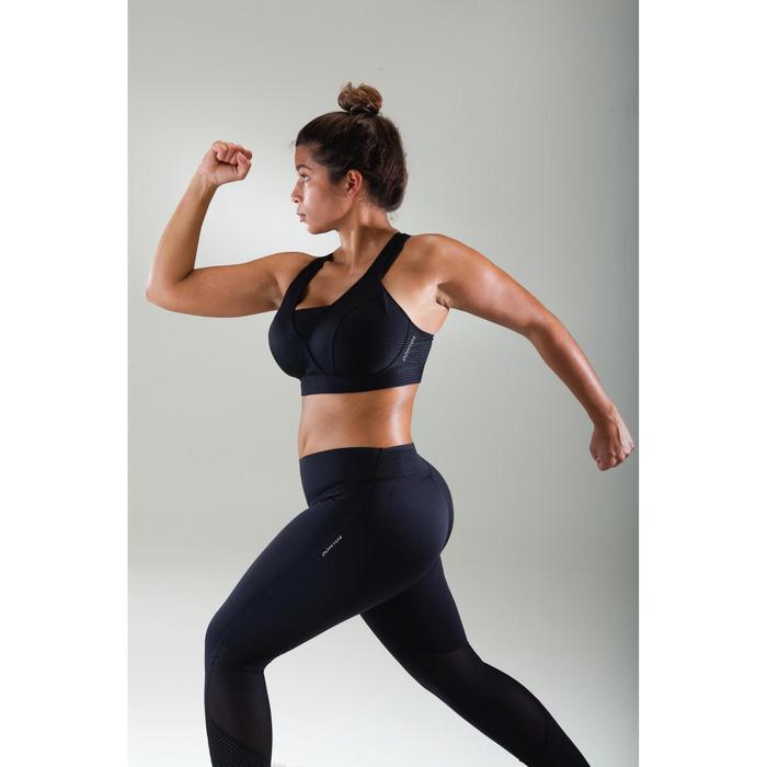 Brassière bonnets profonds fitness cardio-training femme noire 900 - 1489541