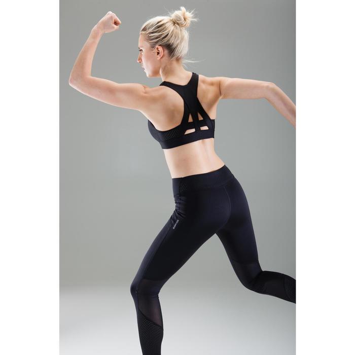 Brassière fitness cardio-training femme noire 900 - 1489542