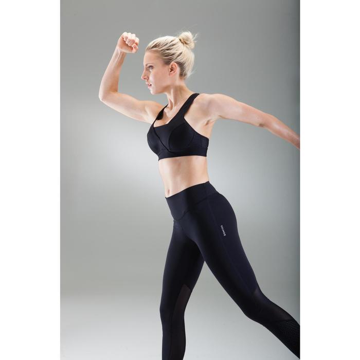 Brassière fitness cardio-training femme noire 900 - 1489543