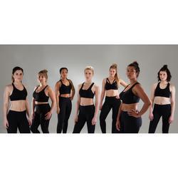 Brassière bonnets profonds fitness cardio training femme noire 900
