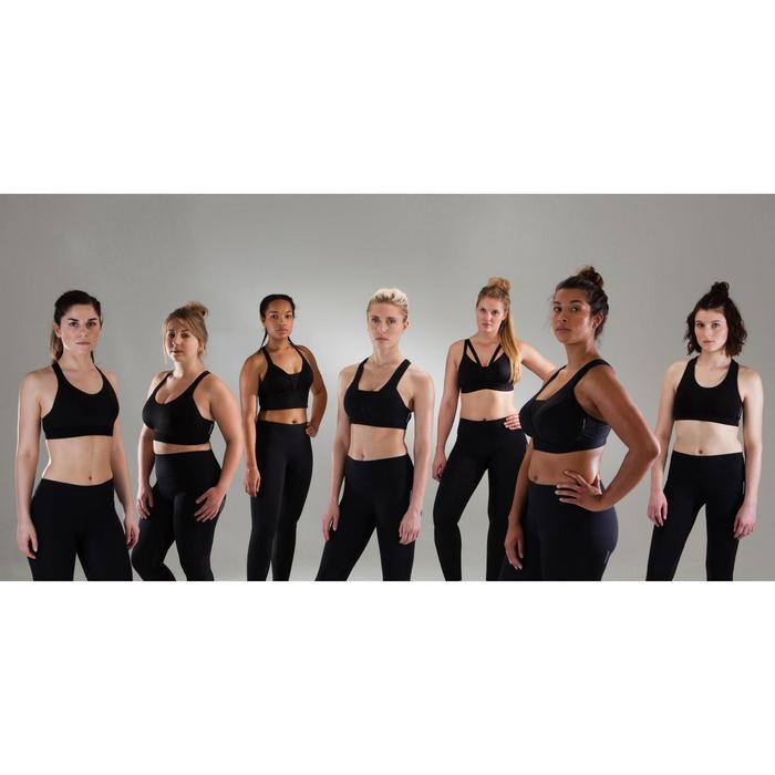 Top Sujetador deportivo Cardio Fitness Domyos 120 mujer negro