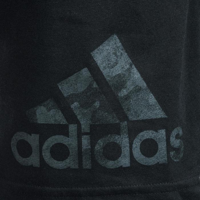 Short Fitness garçon noir - 1489577