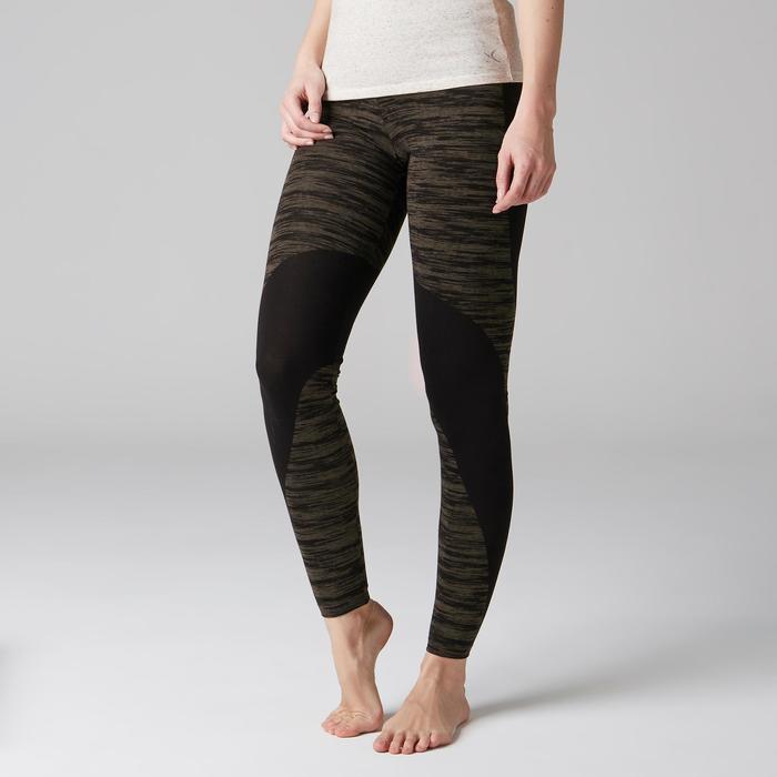 Legging FIT+ 500 slim Gym Stretching femme AOP - 1489586