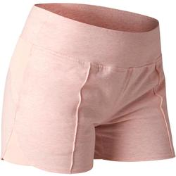 Short 520 Gym Stretching femme rose clair chiné