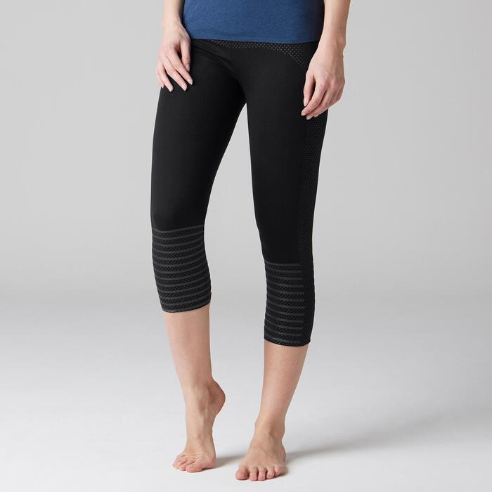 Legging 7/8 900 slim Gym Stretching & Pilates femme noir - 1489610