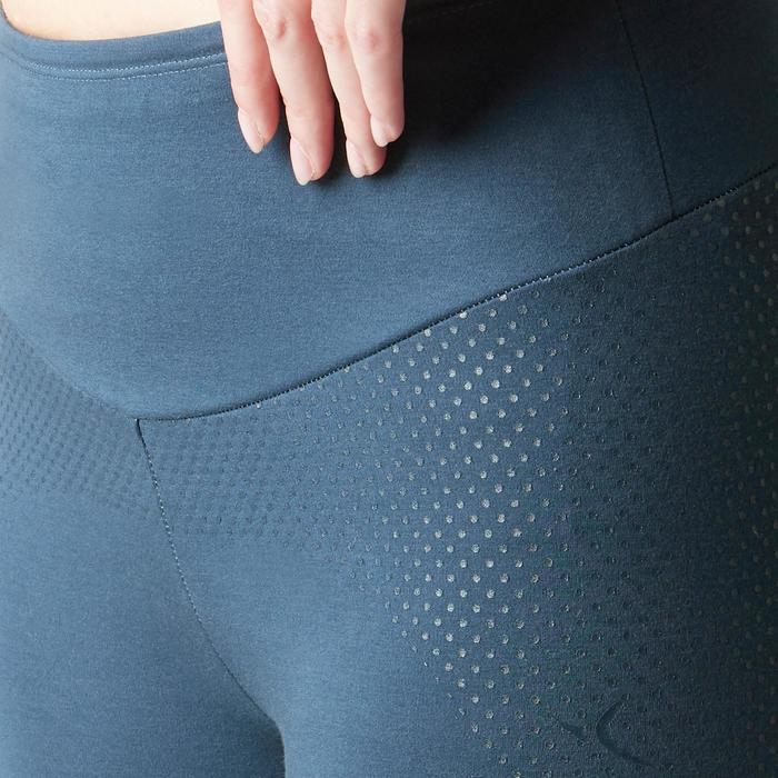 Dameslegging 900 voor gym, stretching en pilates slim fit blauw