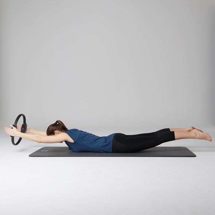 7/8-legging 560 pilates en lichte gym dames zwart print dots