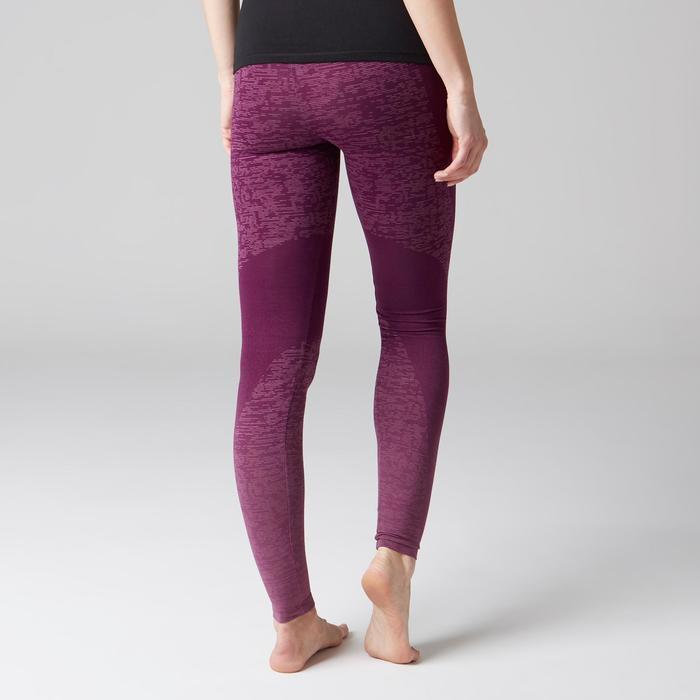 Legging FIT+ 500 slim Gym Stretching femme violet AOP