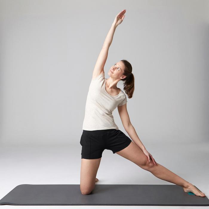 Short 520 Gym Stretching femme rose clair chiné - 1489626