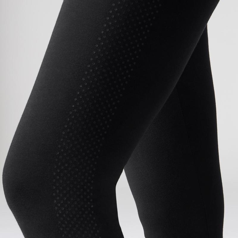 76d603d15f8aa 560 Women's Slim-Fit Pilates & Gentle Gym Leggings - Black Dot Print ...