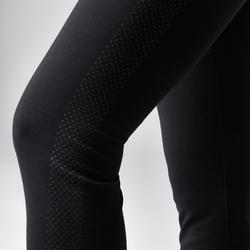 Legging 560 regular ventre plat et galbant Fitness femme noir print dots