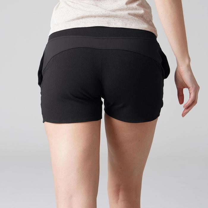 Short 520 Gym Stretching femme rose clair chiné - 1489645