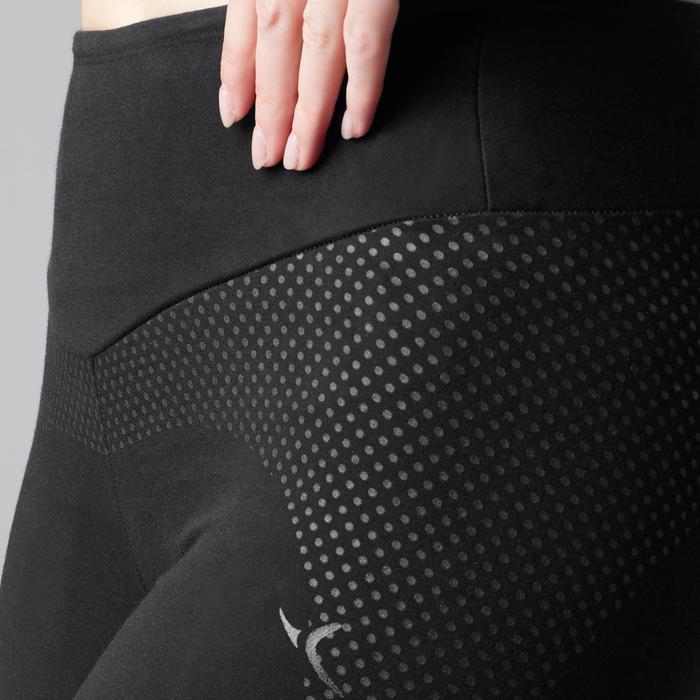 Legging 7/8 900 slim Gym Stretching & Pilates femme noir - 1489660