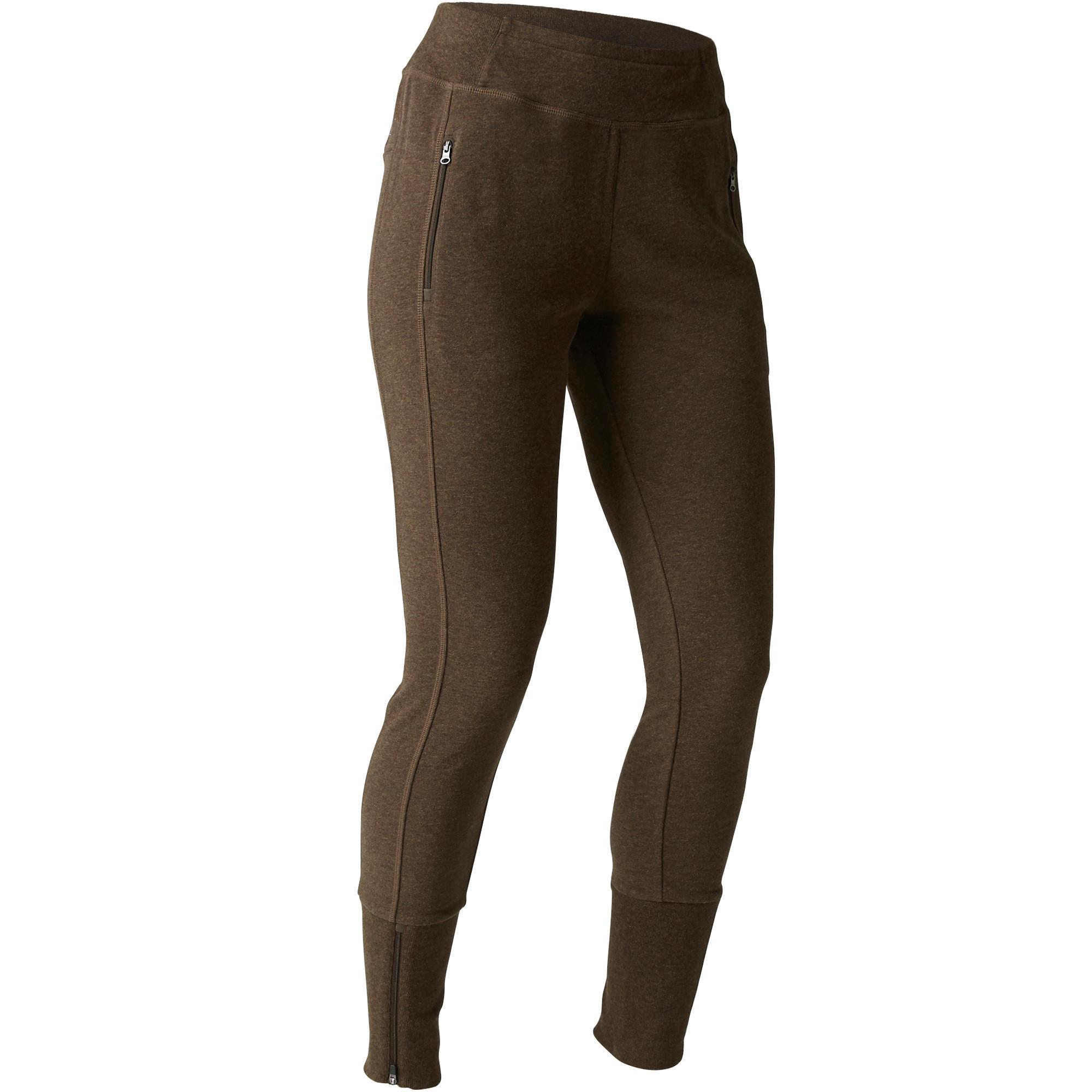 1e28f624 Pilates Spodnie Gym 500 Dresowe Odzież Damska Slim Damskie amp; 5II7Ywq