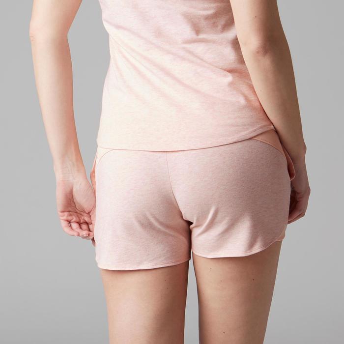 Short 520 Gym Stretching femme rose clair chiné - 1489668